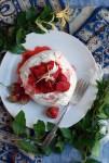 honeysuckle strawberry pavlovas + honeysuckle syrup // brooklyn supper
