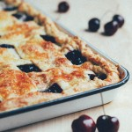 bing cherry slab pie