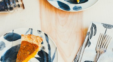 kabocha squash pie with black pepper and ginger