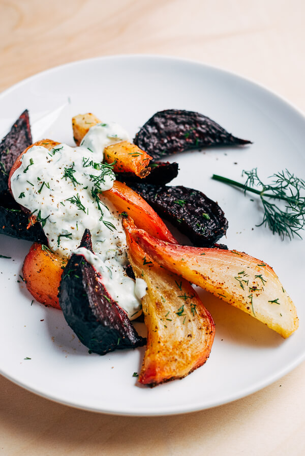 roasted beet wedges with tzatziki11