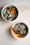 beef bone broth with spring vegetables and soba noodles // brooklyn supper