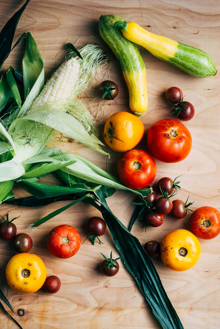 summer produce guide: what to eat right now (mid july) // brooklyn supper