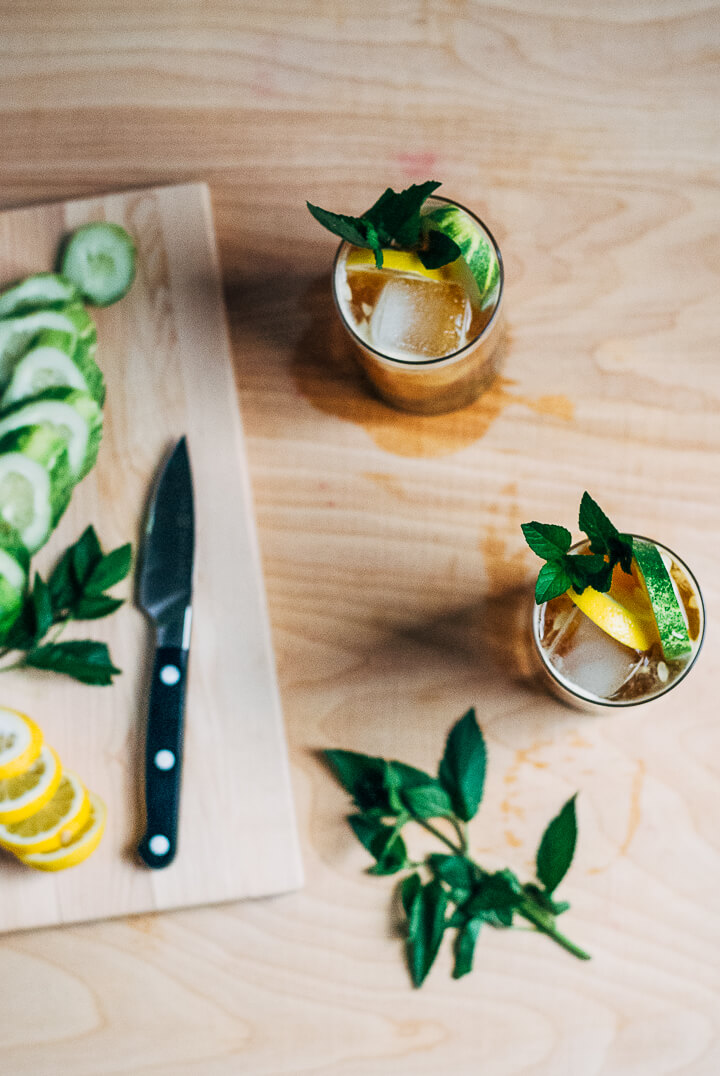 simple pimm's cups // brooklyn supper