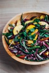 green bean salad with peaches and balsamic bitters vinaigrette // brooklyn supper