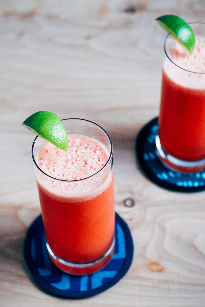 watermelon coolers with ginger and lime // brooklyn supper