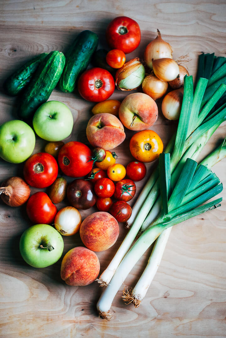 summer produce guide: what to eat right now (beginning of august) // brooklyn supper