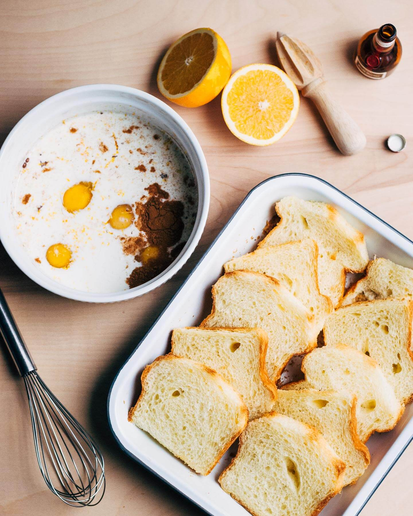 cinnamon orange baked french toast // brooklyn supper