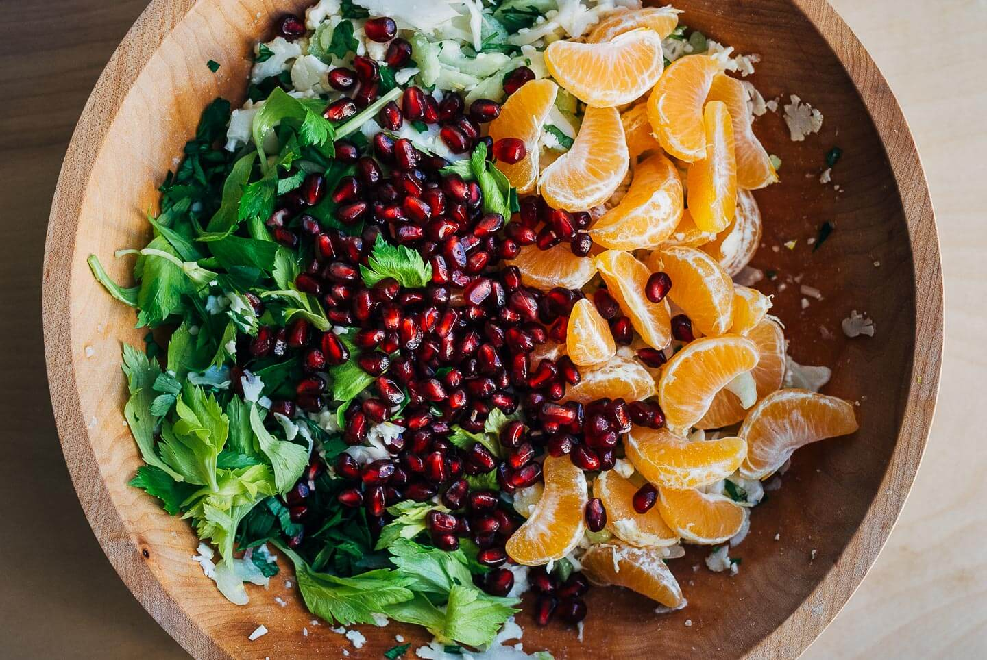 shaved cauliflower salad with clementine and pomegranate // brooklyn supper