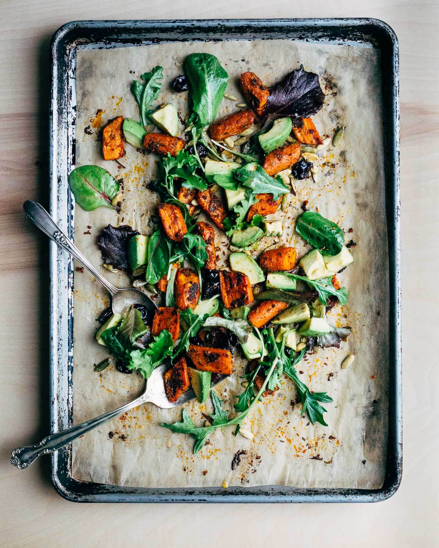spice-roasted carrot and avocado salad // brooklyn supper