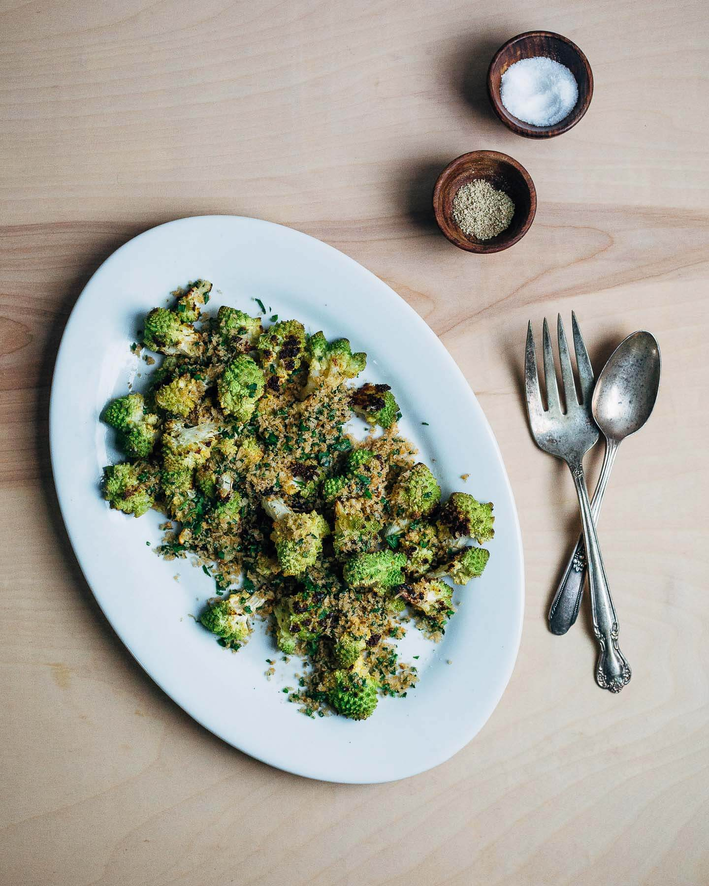 romanesco with brown butter toasted panko // brooklyn supper