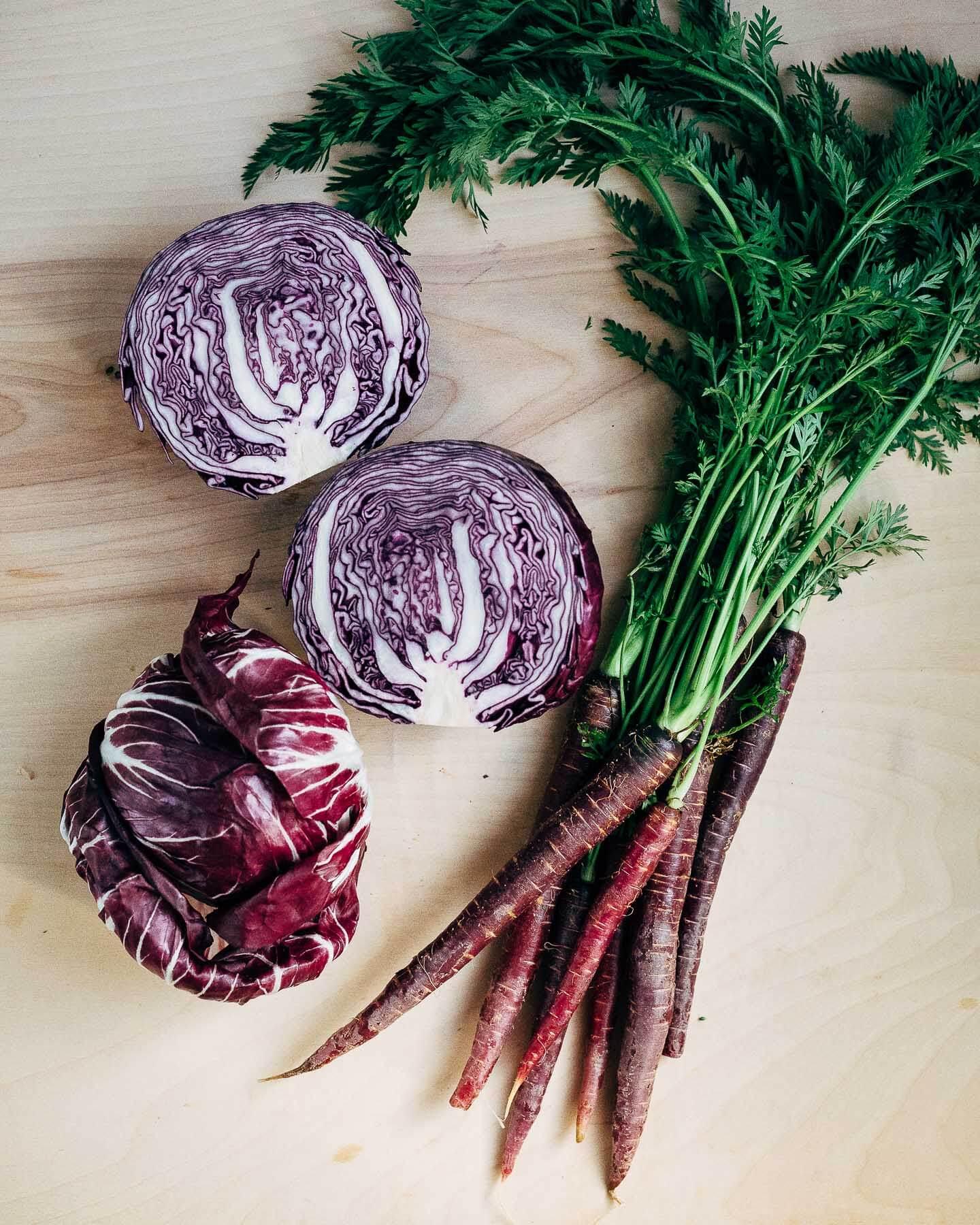 purple slaw with turmeric orange vinaigrette // brooklyn supper
