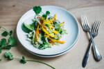 mango slaw with roasted garlic lime dressing // brooklyn supper