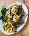 sheet pan roasted chicken and vegetables over herbed farro // brooklyn supper
