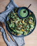 grilled romaine hearts with avocado-kefir green goddess dressing // brooklyn supper