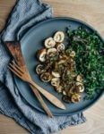 A recipe for richly flavored fennel and mushroom chicken roulade topped with a simple white wine pan sauce.