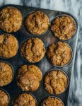 Deliciously tender, impossibly springy butternut squash muffins suffused with fresh ginger, cardamom and cloves.