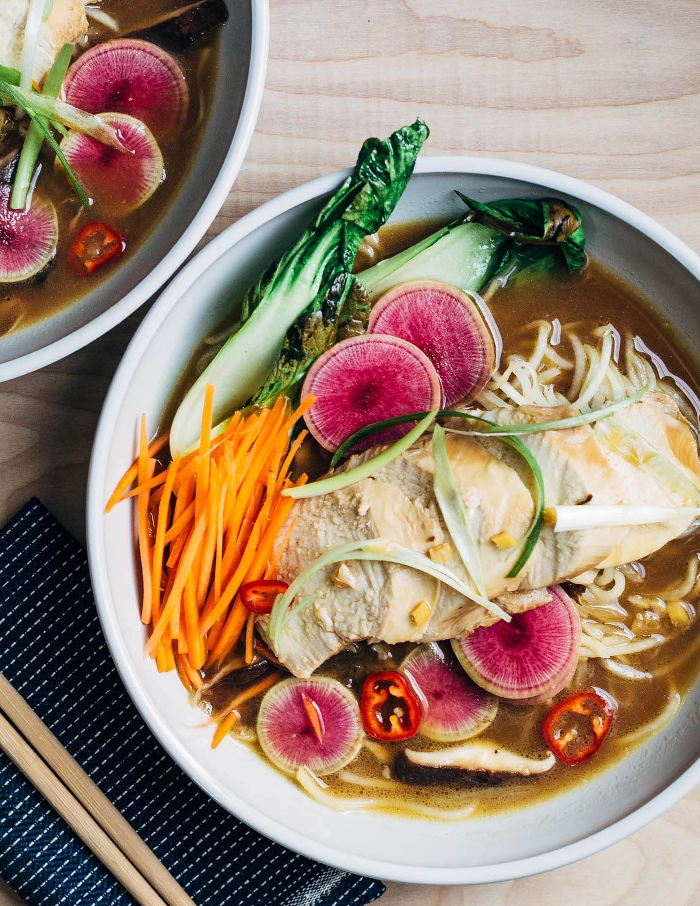Steamed Chicken and Turnip Noodle Ramen