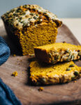 Spiced olive oil pumpkin bread is a wonderful way to harness the flavors of the season. Fresh roasted winter squash imbues this pumpkin bread recipe with rich, wonderfully of-the-moment flavor.